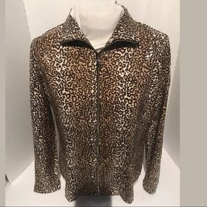 exclusively misook  Blouse Small Leopard